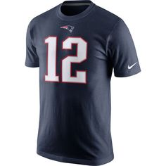 Men's New England Patriots Tom Brady Nike Navy Blue Player Pride Name & Number T-Shirt