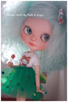 "OOAK Custom Basaak Doll *BUBBU MINT* by Dolls & Sugar in my ETSY SHOP ""DollsandSugarSHOP"""