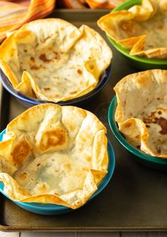 Make Amazing Taco Salad Recipes at home with these ultra-crispy Bubbly Taco Salad Bowls! Learn How To Make Tortilla Bowls just like your favorite Mexican restaurant. Taco Salad Bar, Taco Salad Shells, Taco Salad Bowls, Taco Salad Recipes, Mexican Food Recipes, Sweet Recipes, Taco Bar, Mexican Dishes, Baked Tacos Recipe