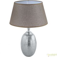 Veioza, Lampa de masa din aluminiu, design Vintage, SAWTRY 49664 EL - Corpuri de iluminat, lustre, aplice