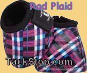 Classic Equine Rad Plaid DL Bell Boot - pink teal white black