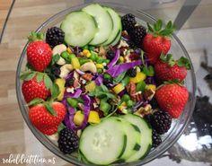 Blue Rocket Salad | rebelDIETITIAN.US