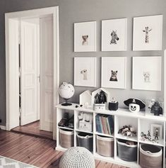 Grey and white bedroom decor playroom. Cube bookshelves for heaps of storage for toys anf kids books&; Grey and white bedroom decor playroom. Cube bookshelves for heaps of storage for toys anf kids books&; White Bedroom Decor, Gray Bedroom, Trendy Bedroom, Ikea Boys Bedroom, Bedroom Colors, Bedroom Wall, Bedroom Designs, Master Bedroom, Bedroom Decor For Boys