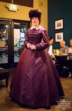 1860s Purple People Eater - Finished, Just Barely! and the Magic of Gored Skirts ~ American Duchess