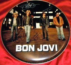 Bon Jovi Band Autographed Signed Logo Drumhead