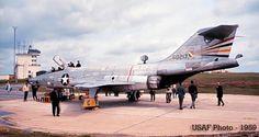 An F-101 Voodoo on display. Circa 1959