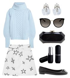 """""""Rainy Monday"""" by jakenpink ❤ liked on Polyvore featuring Temperley London, Être Cécile, Chanel, BaubleBar, Banana Republic and Gucci"""