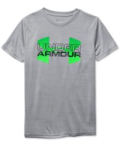 Under Armour Boys' Big Logo Hybrid Tee - Big Kid - Graphite/Ultra Blue/White Kids Shirts, Tee Shirts, Rita Ora Adidas, Under Armour Outfits, Kids Logo, Classy Casual, Outfits For Teens, Fall Outfits, Nike