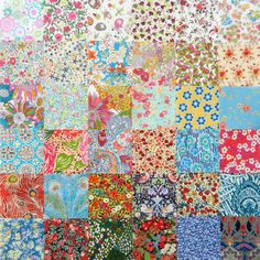 36 Liberty Tana Lawn fabric 3 inch Patchwork by LibertyCharms, £6.50