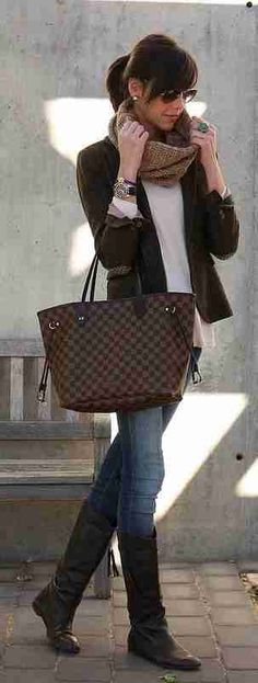 Brown/Beige Louis Vuitton Handbags Neverfull #Louis #Vuitton #Handbags