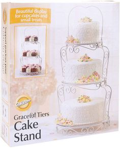 Wilton Brands Wilton Graceful Tiers Cake Stand Cake Stands For Sale, Small Cupcakes, Cake Supplies, Craft Wedding, Round Cakes, Anniversary Parties, Fondant Cakes, Special Day, Cake Decorating
