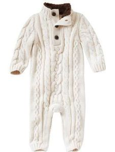 NWT New Baby Gap Boys Sherpa Cable Knit Romper 18-24m
