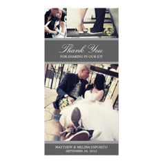 CHIC SILVER GRATITUDE | WEDDING THANK YOU CARD