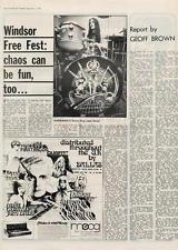 Hawkwind Windsor Free Festival MM4 Interview 1973