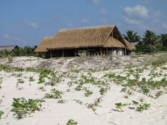 Morrumbene Beach Resort, located in the Inhambane Province of Mozambique, offers perfect weather, white sandy beaches and a beaten track to stray from Sandy Beaches, Beach Resorts, Cabin, House Styles, Gallery, Home Decor, Decoration Home, Room Decor, Resorts