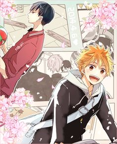 Haikyuu!! / Hq!! (ハイキュー!!) | I really can't get over how adorable Kagehina is! ☆*:.。. o(≧▽≦)o .。.:*☆