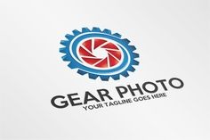 Gear Photo – Logo Template by SpeedBlessing on @creativemarket