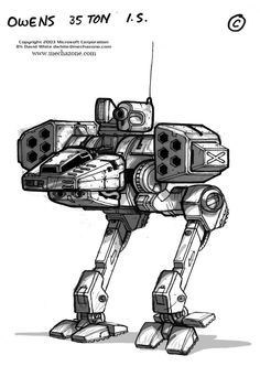 MechWarrior 4 Owens front view by Mecha-Master.deviantart.com on @deviantART