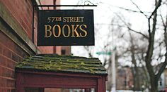 57th Street Books Chicago-- best bookstore in Chicago! Partly underground, and filled with twisty passages and places to hide. Also has the best books EVER. If it's on a bookshelf, it's probably good!