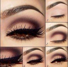 Cute cut crease with glitter ✨