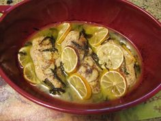 Lemon Basil Chicken Breasts with Olive Oil, White Wine, and Garlic