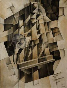 Medico della Peste. Cubo-futurism. Krotkov Vassily. 2013