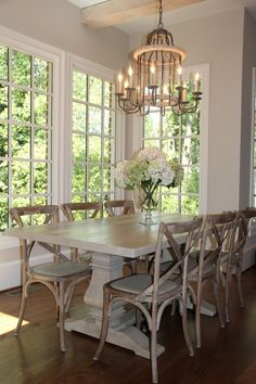 table/chairs by lenore <3 <3 <3 gorgeous gray, lighting