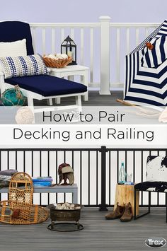 To help you find the perfect decking and railing duo for your deck, Trex has created three simple ways to choose railing that will make your deck stand out. Learn more at Trex.com