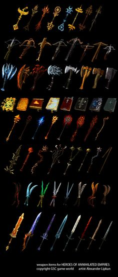 Art: RPG Game weapon designs and some more concepts. Big DL