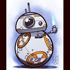 Star Wars: The Force Awakens! Lord Mesa Art - Star Wars - Ideas of Star Wars - Star Wars: The Force Awakens! Star Wars Bb8, Star Wars Droids, Star Wars Love, Star Wars Fan Art, Lord Mesa Art, Star Wars Cartoon, Star Wars Pictures, Desenho Tattoo, Star Citizen