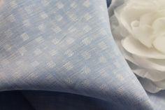 """Linen, """"Blue Jacquard Checkerboard"""", 100% Linen, Blouse Weight, 58"""" Wide (11-9-16)"""