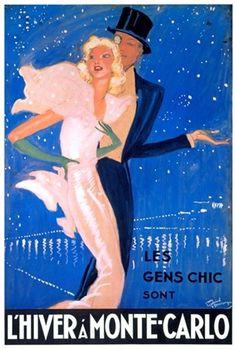 L'Hiver a Monte Carlo - Vintage Advertising