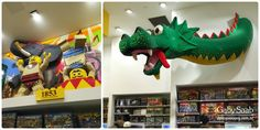 Escultura de lego na Lego Store do Flatiron District.