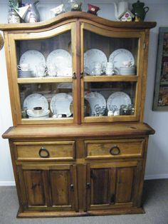 Do you want  a classic, rustic hutch like this one?  Together we can also design and create a custom piece, and I will build it to your exact specifications--you pick the paint or stain, distressed or formal, satin or gloss finish, or hand-rubbed finish that will look timeless for a long time to come.  Please look at my furniture at:    http://davescustomcreations.tumblr.com/