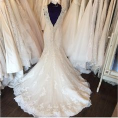 Swooning over this low back Justin Alexander wedding dress  Style 8758