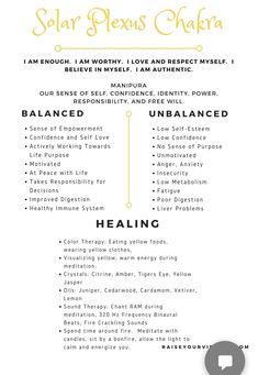 Chakra Affirmations, Positive Self Affirmations, Wiccan, Witchcraft, Solar Plexus Chakra Healing, Chakra Meanings, Yoga Movement, Reiki Symbols, Divine Light