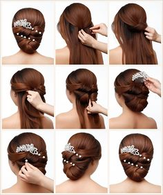 Simple Wedding Hairstyles That Prove Less Is Elegant Wedding Hair, Simple Wedding Hairstyles, Elegant Hairstyles, Indian Hairstyles, Bun Hairstyles, Pretty Hairstyles, Wedding Simple, Trendy Wedding, Curly Hair Styles