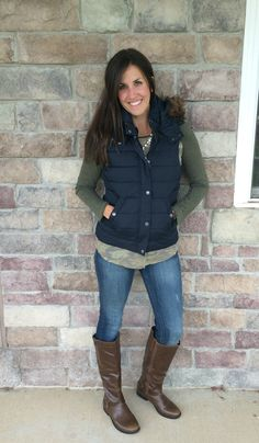 What I Wore, Real Mom Style: Fall Vests #RealMomStyle - momma in flip flops