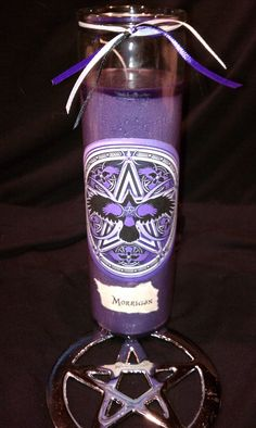 Wicca Witch Pagan Altar Spell Magick Celtic Goddess MORRIGAN Ritual Meditation Candle. $11.00, via Etsy.