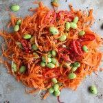 Carrot Salad with Sesame Chili Vinaigrette