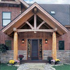 Timber Frame Entrance King Post Truss 2