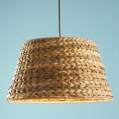 Seagrass pendant light (buy from Shades of Light)  or maybe I could make this out of a basket for the beach house.