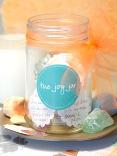 Tangerine dreams. :) What made you smile today? Hold on to your happy memories with The Joy Jar!