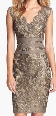 Flattering lace dress