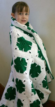 Shamrock afghan crochet pattern. This listing is for the PDF pattern ONLY. Finished afghan is not in this listing. Pattern is written using