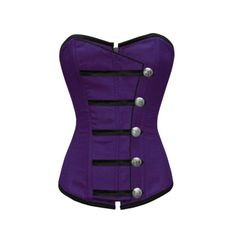 Purple Button Down Corset