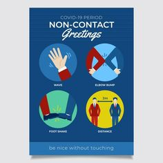 Non-contact greetings poster   Free Vector #Freepik #freevector #poster #health #contact #print Honeycomb Shape, Vector Free, Poster, Shapes, Illustration, Crowns, Illustrations, Billboard