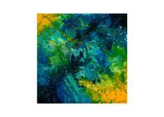 """""""Corales de la isla"""" Tela sobre madera, pintada en un mixto de látex y acrílico."""