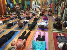 Free community yoga classes now at select @Patagonia stores.