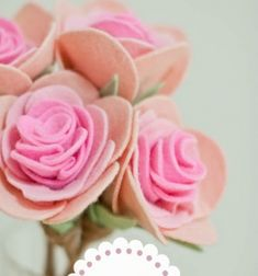 We simply love wonderful romantic rose bouquets around the house at spring . However, we don't really like cut flowers because watching them die in a vase makes us really sad .The solution? Everlasting felt roses ,of course! This felt craft is easy, ...